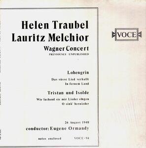 Helen Traubel - Wagner Concert