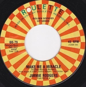 Jimmie Rodgers - Make Me A Miracle / Bimbombey