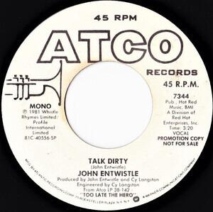 John Entwistle - Talk Dirty
