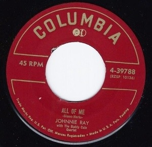 Johnnie Ray - All Of Me