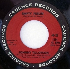 Johnny Tillotson - Out Of My Mind / Empty Feelin'