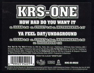 KRS-One - How Bad Do You Want It