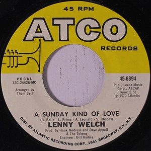 lenny welch - A Sunday Kind Of Love