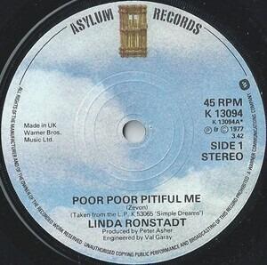 Linda Ronstadt - Poor Poor Pitiful Me