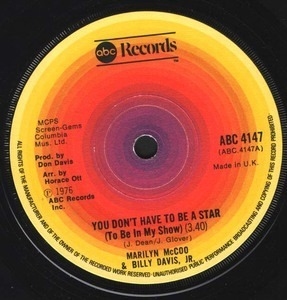 Marilyn McCoo & Billy Davis, Jr. - You Don't Have To Be A Star (To Be In My Show)