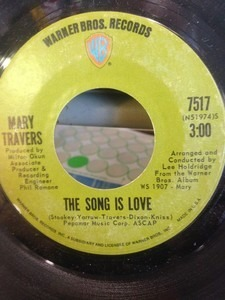 Mary Travers - The Song Is Love