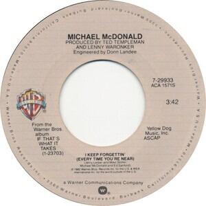 Michael McDonald - I Keep Forgettin' (Every Time You're Near)