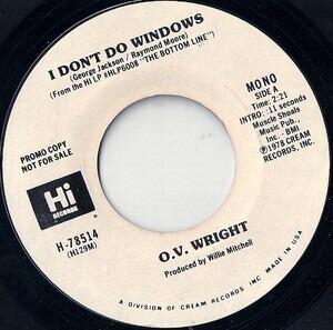 O.V.Wright - I Don't Do Windows