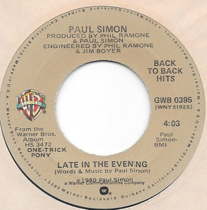 Paul Simon - Late In The Evening / One Trick Pony