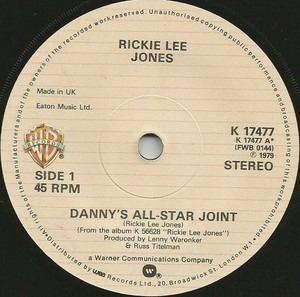 Rickie Lee Jones - Danny's All-Star Joint