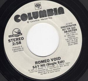 Romeo Void - Say No