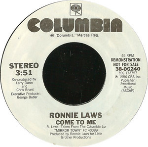 Ronnie Laws - Come To Me
