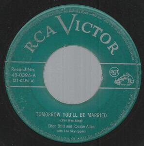 Rosalie Allen - Tomorrow You'll Be Married / Mockin' Bird Hill