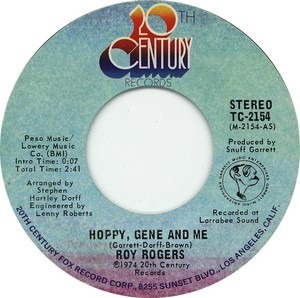 Roy Rogers - Hoppy, Gene And Me / Good News, Bad News