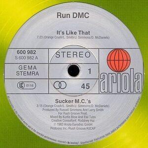 Run-D.M.C. - It's Like That / Sucker M.C.'s