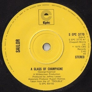 Sailor - A Glass Of Champagne