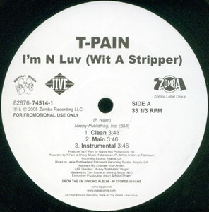 I mn luv with a stripper by t pain