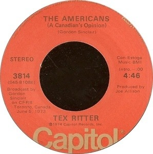 Tex Ritter - The Americans (A Canadian's Opinion)