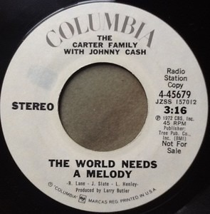 The Carter Family - The World Needs A Melody