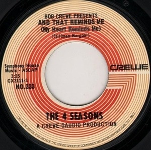 The Four Seasons - And That Reminds Me (My Heart Reminds Me) / The Singles Game
