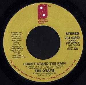 The O'Jays - I Can't Stand The Pain / A Letter To My Friends
