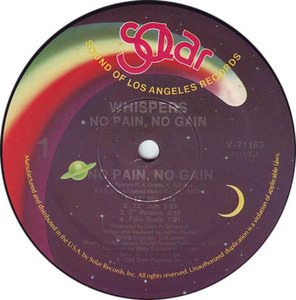 The Whispers - No Pain, No Gain