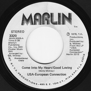 U.S.A. - European Connection - Come Into My Heart/Good Loving