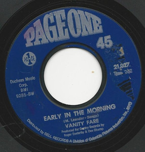 Vanity Fare - Early in the Morning