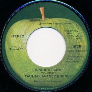 Paul McCartney & Wings - Junior's Farm / Sally G
