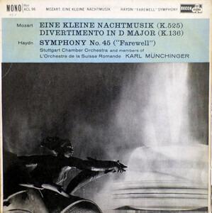 "Wolfgang Amadeus Mozart - Eine Kleine Nachtmusic / ""Farewell"" Symphony"