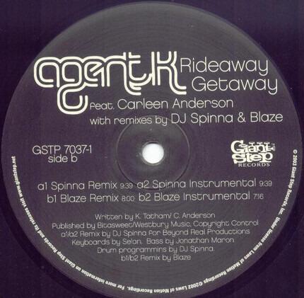 #<Artist:0x00007fb525314660> - Rideaway Getaway (Remixes By DJ Spinna & Blaze)