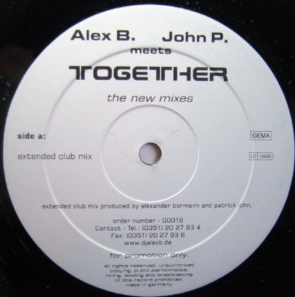 #<Artist:0x00007f90d00873d0> - Together - The New Mixes