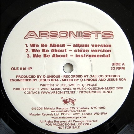 #<Artist:0x00007f40f6182098> - We Be About / Self-Righteous Spics