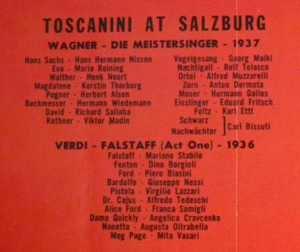 #<Artist:0x00000000089816d0> - Toscanini at Salzburg 1937, 1936