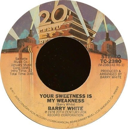 #<Artist:0x00000000081b3cc8> - Your Sweetness Is My Weakness / It's Only Love Doing Its Thing