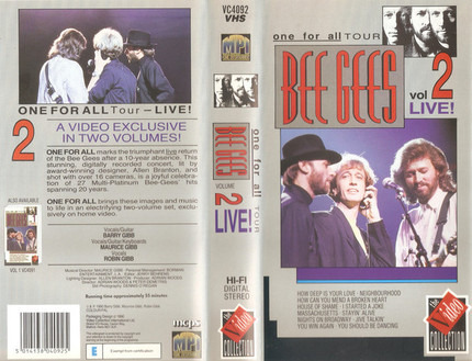 #<Artist:0x00007fb5407a3f08> - Bee Gees Live - One For All Tour - Vol 2