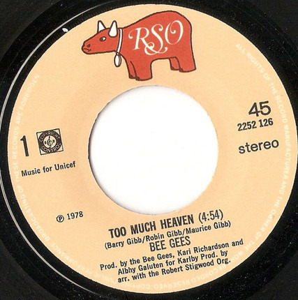 #<Artist:0x00007fcee38dbf58> - Too Much Heaven / Rest Your Love On Me