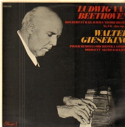 #<Artist:0x00007fc400fd5360> - Konzert für Klavier und Orch Nr.4 G-dur op.58,, Walter Gieseking