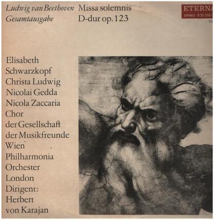 #<Artist:0x00007fb16224b358> - Missa solemnis, D-dur,, Chor der Gesell. der Musikfreunde Wien, Philh. Orch. London, Karajan
