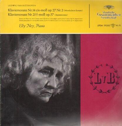 #<Artist:0x00007f7e1e27cb50> - Klaviersonaten 14 & 23,, Elly Ney