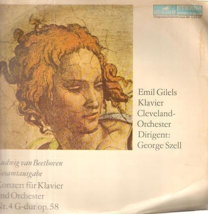 #<Artist:0x00007f7e1ec124f8> - Konzert für Klavier und Orch Nr.4 G-dur op.58,, Emil Gilels, Cleveland Orch, Szell