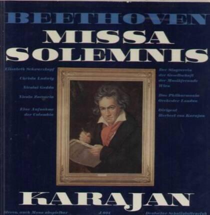 #<Artist:0x00007fda5f800f48> - Missa Solemnis,, Karajan, Das Philharmonia Orch London, Der Singverein der Gesellschaft der Musikfr