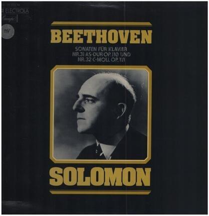 #<Artist:0x00007f73f71806b0> - Sonaten für Klavier Nr.31 und 32,, Solomon