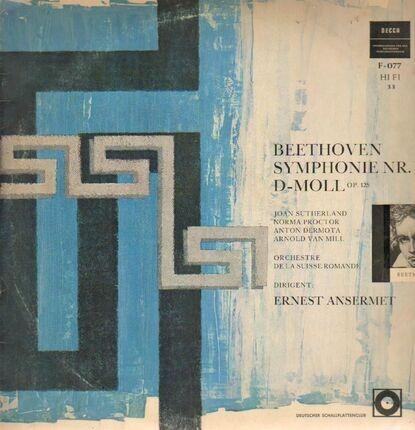 #<Artist:0x00007f7e1e832d10> - Symphonie Nr. IX D-Moll,, Ansermet, Orch de la Suisse Romande