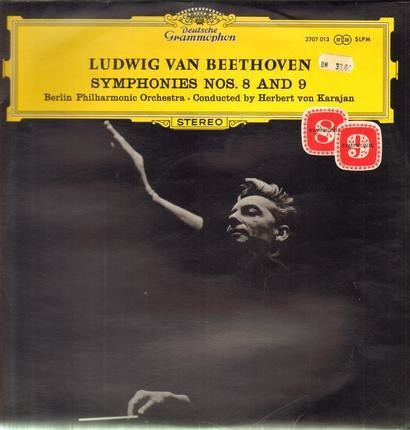 #<Artist:0x00007f41138bef60> - Symphonies Nos.8 and 9; Berlin Philh. Orch, Cond. H.v. Karajan