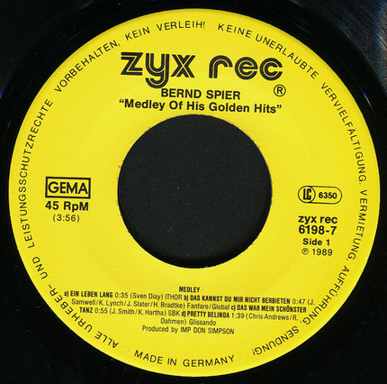 #<Artist:0x00007fcec2cf1320> - Medley Of His Golden Hits