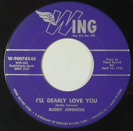 #<Artist:0x00007f2ab5ec7db8> - Buddy's Boogie / I'll Dearly Love You