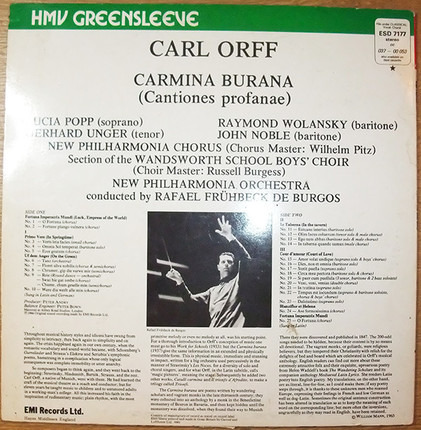#<Artist:0x00007fcee1358768> - Carmina Burana