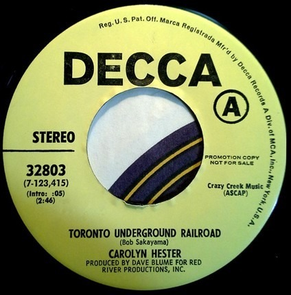 #<Artist:0x00007f740818fd98> - Toronto Underground Railroad / I'm Looking for you