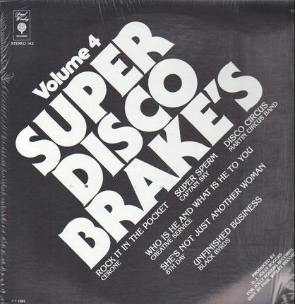 #<Artist:0x00007f412f5aeca0> - Super Disco Brake's Volume Four